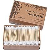 Two Tips I Bamboo Cotton Swabs I 300ct Biodegradable I Organic I Natural Cotton I Plastic Free I Ecological Choise to Reduce