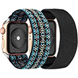 Elastic Watch Bands Replacement for Apple Watch, 38mm/40mm 42mm/44mm Watch Bands for Women Compatible with Apple Watch 5 4 3