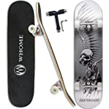 """WHOME Pro Skateboard Complete for Adult Youth Kid and Beginner - 31"""" Double Kick Concave Street Skateboard 8 Layer Alpine Har"""