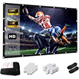 Projection Screen, Keenstone 120 inch 16:9 HD Foldable Anti-Crease Portable Projector Movies Screen for Home Backyard Theater