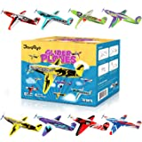 """Joygogo 32 Pack Glider Planes,8"""" Long Flying Glider Plane,8 Different Designs,Easy Assembly,Durable Quality-Kids Party Favors"""