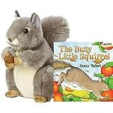 "Aurora World Miyoni Grey Squirrel 10"" Plush Collection (Book Set)"