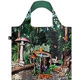 LOQI Artist Kristjana S Williams Interiors Reusable Shopping Bag, O/S, Black Forest
