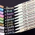 AKARUED メタリック マーカーペン 10色セット 水性 カラーペン サインペン DIY サプライズボックス アルバム 手作り カード 年賀状 ガラス 木材 陶芸 フォトなど まざまな用途に適用