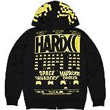(ハードコアチョコレート) HARDCORE CHOCOLATE スペースインベーダー ZIPパーカー (アーケードブラック イエロー)(ZIP HOOD)(P-1363-BK) パーカー フルジップ ゲーム TAITO タイトー 国内正規品
