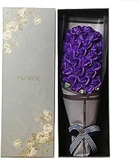 MINENA 造花 花束 バラ 石鹸 花 ソープフラワー 33本 香り付き フラワーボックス付き 父の日 誕生日 結婚祝い 結婚記念日 プレゼント女性 母親 妻