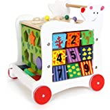Small Foot Wooden Toys Wooden Baby Bear Walker, 5-sided fun promotes motor skills, designed for children ages 12+ Months, Mul
