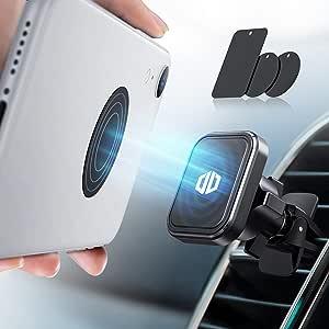 【令和最新版6個磁石内蔵】DesertWest 車載ホルダー マグネット スマホホルダー エアコン吹き出し口用 磁石 スマホ 車載スタンド 携帯ホルダーマグネット スマホほるだー 車 スマートフォン車載スタンド 360度回転 片手操作 iPhone/Sony/HUAWEI/Samsung/AQUOSなど多機種対応可能 日本語取り扱い説明書付き