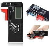 バッテリーテスター 電池残量測定器 デジタル 電池 チェックー ボタン電池の残量チェック 乾電池テスター LCD液晶画面…