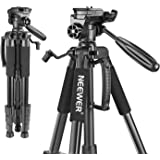 Neewer Portable 56 inches/142 Centimeters Aluminum Camera Tripod with 3-Way Swivel Pan Head,Bag for DSLR Camera,DV Video Camc