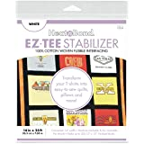 Thermoweb EZ-TEE Woven Fusible Stabilizer 14 in x 25ft, White 14x25, 14 inches x 25 feet