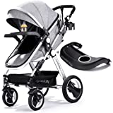 Infant Toddler Baby Stroller Carriage - Cynebaby Compact Pram Strollers Single Stroller Add Cup Holder Footmuff Stroller Tray