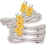 5pcs 3M K Type Mini-Connector Thermocouple Temperature Probe Sensor Measure Range -50~700°C