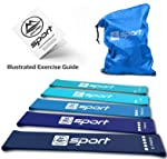Resistance Band Resistance Bands Set of 5 Resistance Loop Bands for Legs and Butt Resistance Booty Bands for Women...