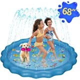 """Sprinkler for Kids, 68"""" Sprinkle and Splash Play Mat for Kids Outdoor Water Toys, Toddler Pool for Wading Swimming And Learni"""