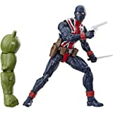 "Avengers E3975 Marvel Legends Series Union Jack 6"" Collectible Action Figure Toy For Ages 6 & Up with Accessories & Build-A-F"