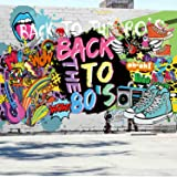 80's Party Decorations,Scene Setters Wall Decorating Kit, Extra Large Fabric Back to The 80's Hip Hop Sign Party Banner