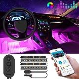 Car LED Strip Lights by APP Control, Govee 48 LED Car Interior Lights Music Sound-activated Multi-color Under Dash Lighting K