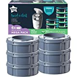 Tommee Tippee Twist and Click Advanced Nappy Disposal Sangenic Tec Refills, Pack of 6 (Compatible with Sangenic Tec, Twist an