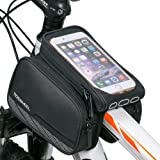 Cycling Frame Pannier Cell Phone Bag, WOTOW Bike Front Top Tube Touchscreen Saddle Bag Rack Mountain Road Bicycle Pack Double