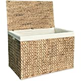 vidaXL Laundry Basket Water Hyacinth Washing Clothes Bin Box Storage Hamper