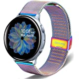 DEALELE Bands Compatible with Galaxy Watch Active / Active 2 40mm 44mm, 20mm Stainless Steel Metal Mesh Strap Replacement for