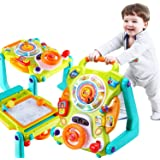 iPlay, iLearn 3 in 1 Baby Walker Sit to Stand Toys, Kids Activity Center, Toddlers Musical Fun Table, Lights and Sounds, Lear