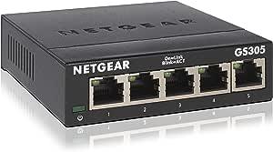 NETGEAR アンマネージスイッチングハブ 5ポート 卓上型コンパクト ギガビット 静音ファンレス 省電力設計 GS305