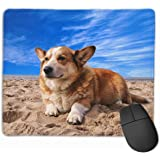 マウスパッド コーギー 犬 可愛い おしゃれ 高耐久性 滑り止め 防水 PC ラップトップ 水洗い レーザー 光学式 25*30cm