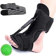 CHARMINER Plantar Fasciitis Night Splint Foot Drop Orthotic Brace, Adjustable Elastic Dorsal Splint, Effective Relief from Pl