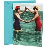 Hallmark Shoebox Birthday Card for Friend (Vintage Women), When We're Old and Crazy (0349RZF3009)