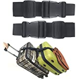 Ajmyonsp Pack of 2 Add a Bag Luggage Strap Adjustable Suitcase Belt Travel Attachment Travel Accessories for Connect Your 3 L