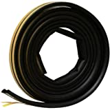 """Frost King EPDM Rubber Self-Stick Weatherseal Tape, D-Section, 5/16"""" W, 1/4"""" T, 17 ft L, Black"""