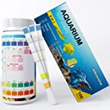 Aquarium Test Strips 6 in 1 for Freshwater and Saltwater- Fish Tank Test Kit Monitoring Level of pH, Nitrate, Nitrite, Genera