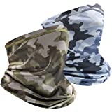 Multifunctional Headwear Face Scarf, Breathable Neck Gaiter Face Scarf Mask, Bandanas Tube Mask for Men Women 2 Pack