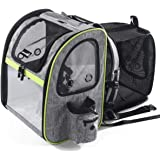 Pecute Pet Carrier Backpack with Mesh Portable Collapsible Pet Backpack Pet Expandable Bag for Puppy Dogs and Cats, Easy-Fit