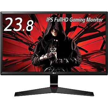 LG ゲーミング モニター ディスプレイ 24MP59G-P 23.8インチ/フルHD/IPS非光沢/1ms(MBR)/DisplayPort・HDMI・D-Sub