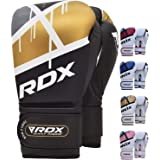 RDX Boxing Gloves for Training Muay Thai Maya Hide Leather Mitts for Fighting, Kickboxing, Sparring EGO Gloves for Punch Bag,
