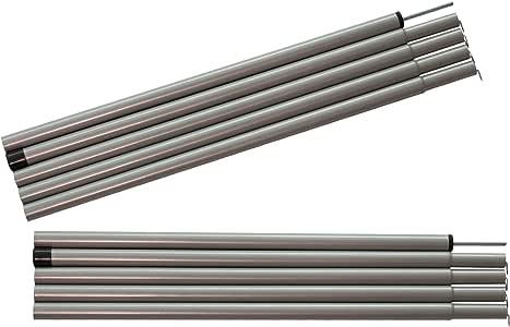 Sutekus テント タープ ウイング 用 アジャスタブル ポール 2本セット (グレー)