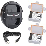 Newmowa DMW- BLF19 Battery (2 Pack) and Dual USB Charger for Panasonic DMW-BLF19 and Panasonic DMW-BLF19E Panasonic DMC-GH5 D