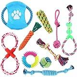 DasMarine 10 個 犬ロープおもちゃ 犬おもちゃ 犬用玩具 噛むおもちゃ ペット用 コットン ストレス解消 セット 丈夫 耐久性 清潔 歯磨き 小/中型犬に適用