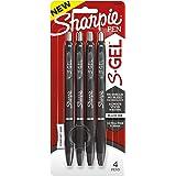 Sharpie S-Gel, Gel Pens, Ultra Fine Point (0.38mm), Black, 4 Count