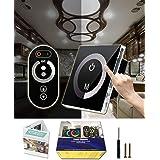 KITASST Touch LED Dimmer Switch 12V/24V with Remote Control for LED Lights Interior, Halogen, Incandescent - RV, Auto, Boat,