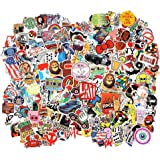 FNGEEN 105pcs Random Stickers Pack for Laptop, Skateboard Stickers, Cool Vinyl Waterproof Stickers for Adult Teens Boys Girls