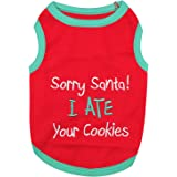 Parisian Pet Funny Christmas Holiday Dog Cat Pet Shirts Tee Tanks - Naughty or Nice, Santa Outfit, Elf Size, Santa's Helper,