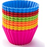 Silicone Baking Cups, SAWNZC Jumbo Cupcake Liners Large 3.54 inch Resusable Muffin Cups Non-stick Muffin Liners Cupcake Bakin