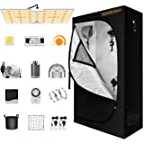 """Spider Farmer 2x4 Grow Tent Kit Complete 24"""" x 47"""" x 71"""" with SF-2000 LED Grow Light Samsung Diodes MeanWell Driver Full Spec"""