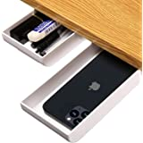 iFeather iFeather Under Desk Drawer, Pen Holder, Desktop Organizer for Office/School/Kitchen (1 Pack White)