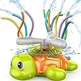 SAOCOOL Sprinkler for Kids, Water Toys Spinning Turtle Sprinklers Outdoor Toys with 12 Wiggle Tubes, Kids Sprinkler for Yard