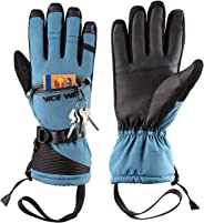 Winter Ski Gloves Men Women - Windproof Warm Touch Screen Design for Outdoor Sports Skiing Snowboarding Shoveling Snow